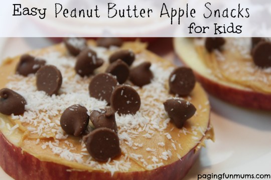 Easy Peanut Butter Apple Snacks for Kids