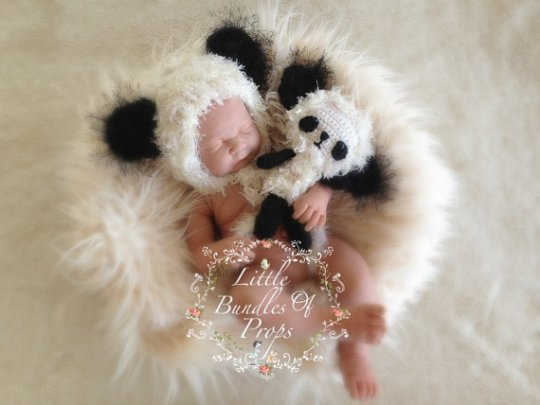 Panda Newborn Photography prop set