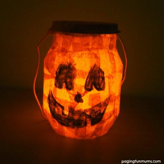 DIY Halloween Lantern with a yoghourt tub!