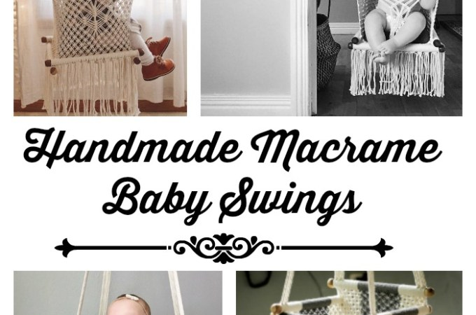 Beautiful Handmade Macrame Baby Swings and Hammocks!