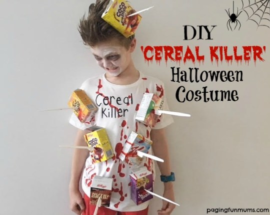 Diy cereal killer halloween costume paging fun mums my kids are well into halloween nowits actually becoming more and more popular in australia when i saw a similar idea to this on pinterest ccuart Gallery