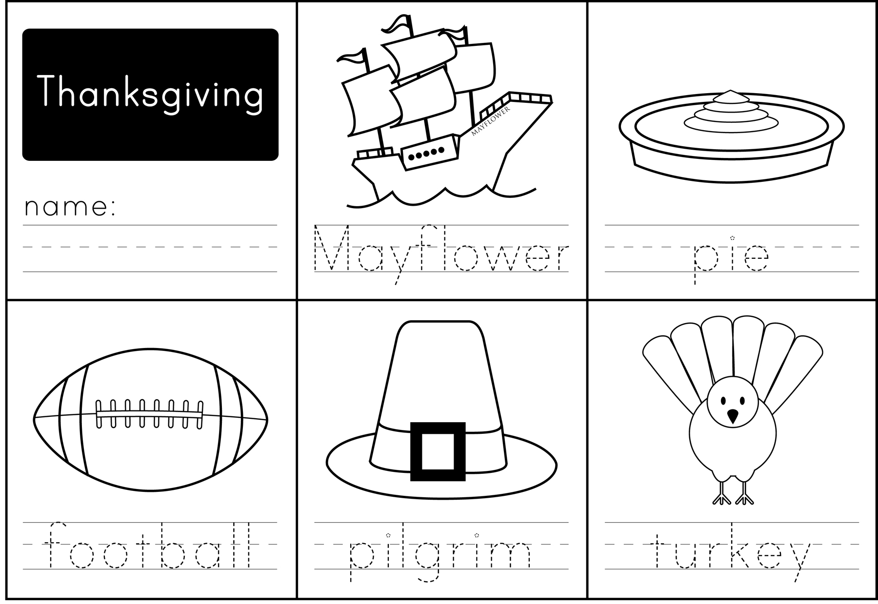 Fun Math Worksheet Thanksgiving