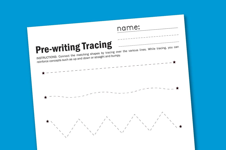 Pre Writing Worksheet