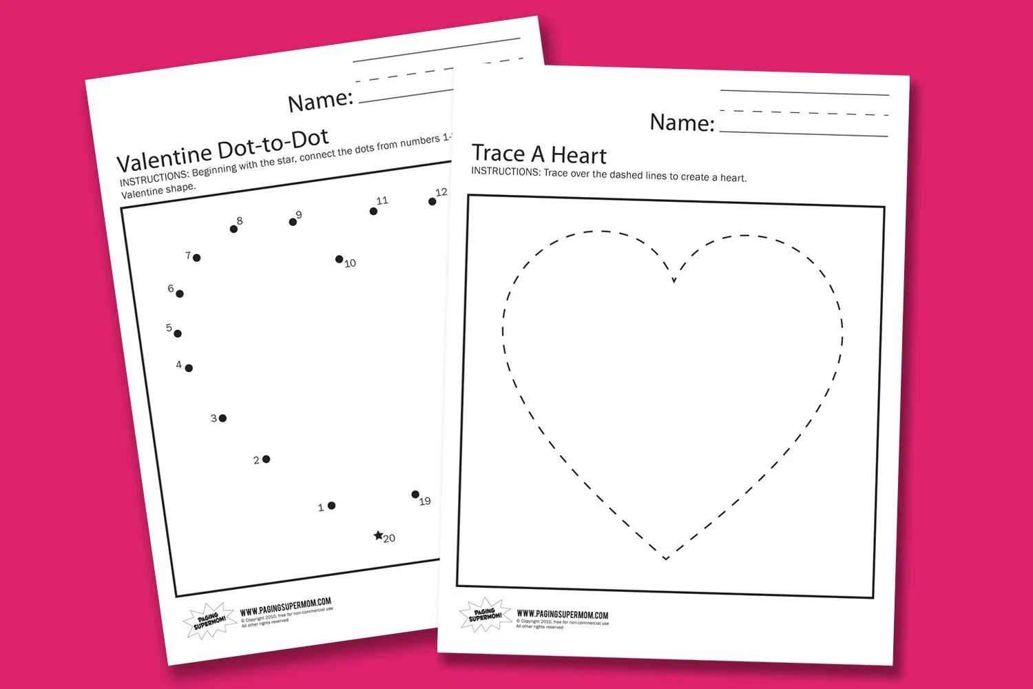 Valentine Worksheets