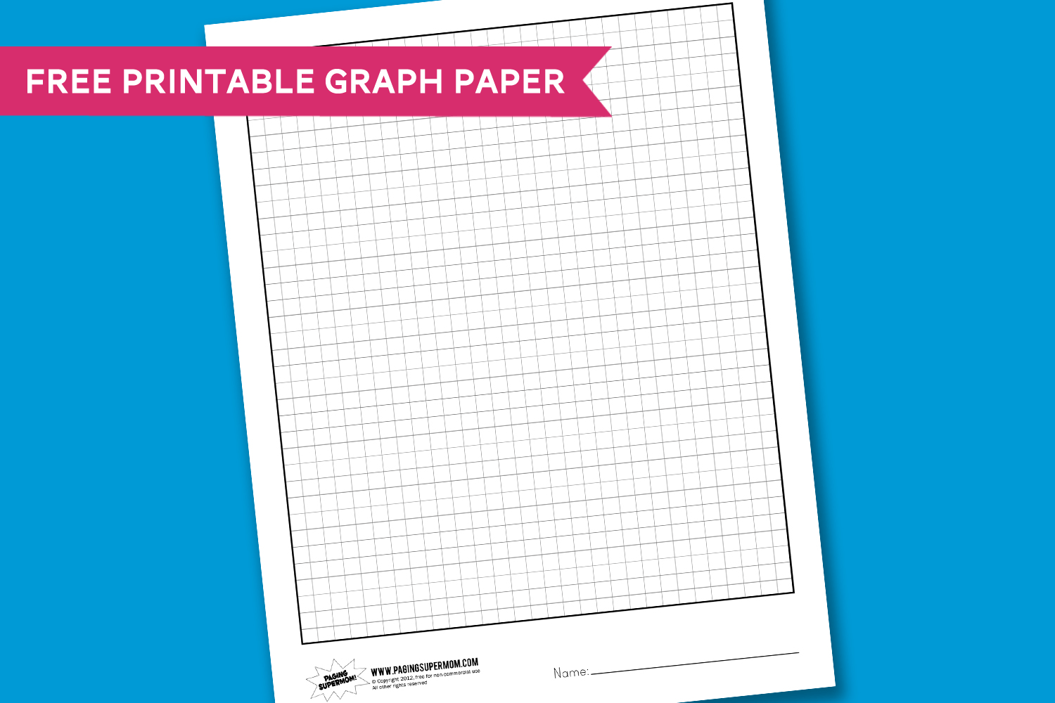 Worksheet Wednesday Graph Paper