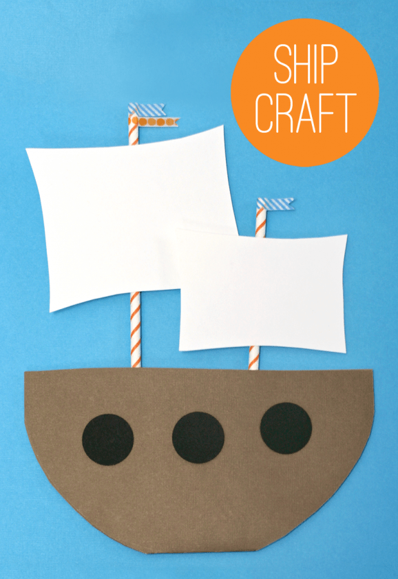 Make a Mayflower - Kids Thanksgiving Craft Idea from PagingSupermom.com #thanksgiving #kidscrafts #mayflower