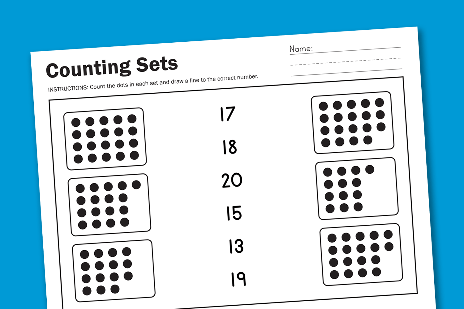 New 13 Counting Objects Worksheets 1 30