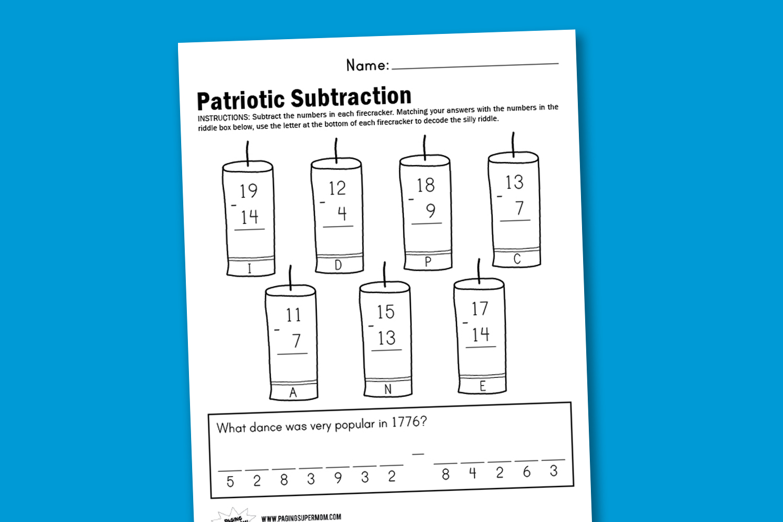 Patriotic Worksheet Elementary