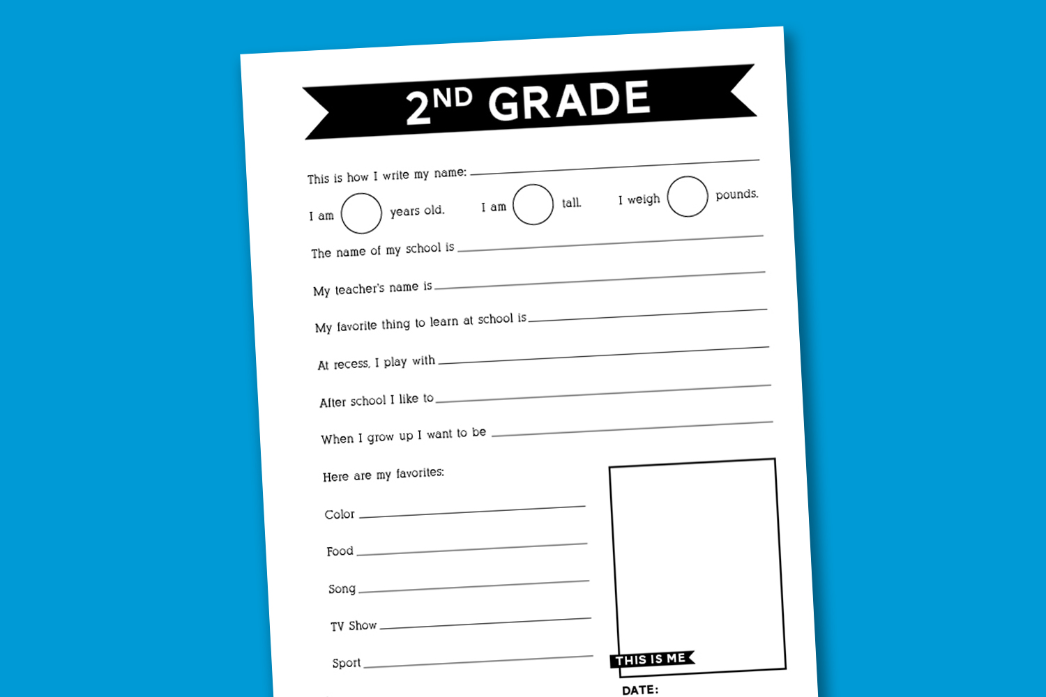Back To School Survey Worksheet