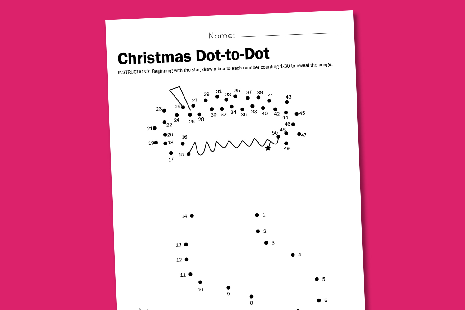Worksheet Wednesday Christmas Dot To Dot