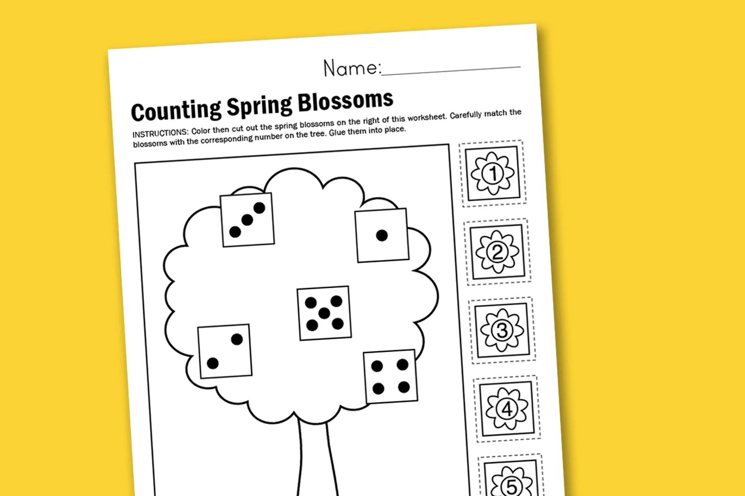 Worksheet Wednesday Counting Spring Blossoms
