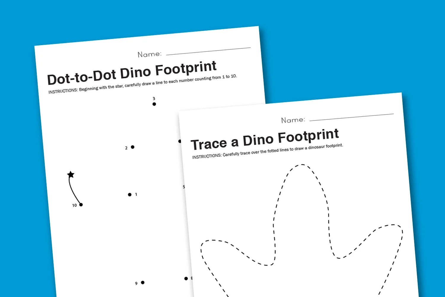 Worksheet Dot To Dot Dinosaur