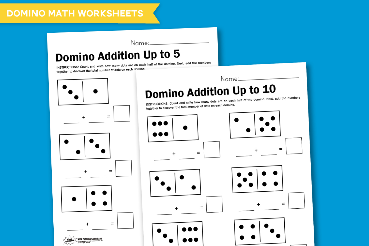 Worksheet Wednesday Domino Math