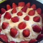 Cremă și căpșune pentru tort Fraisier