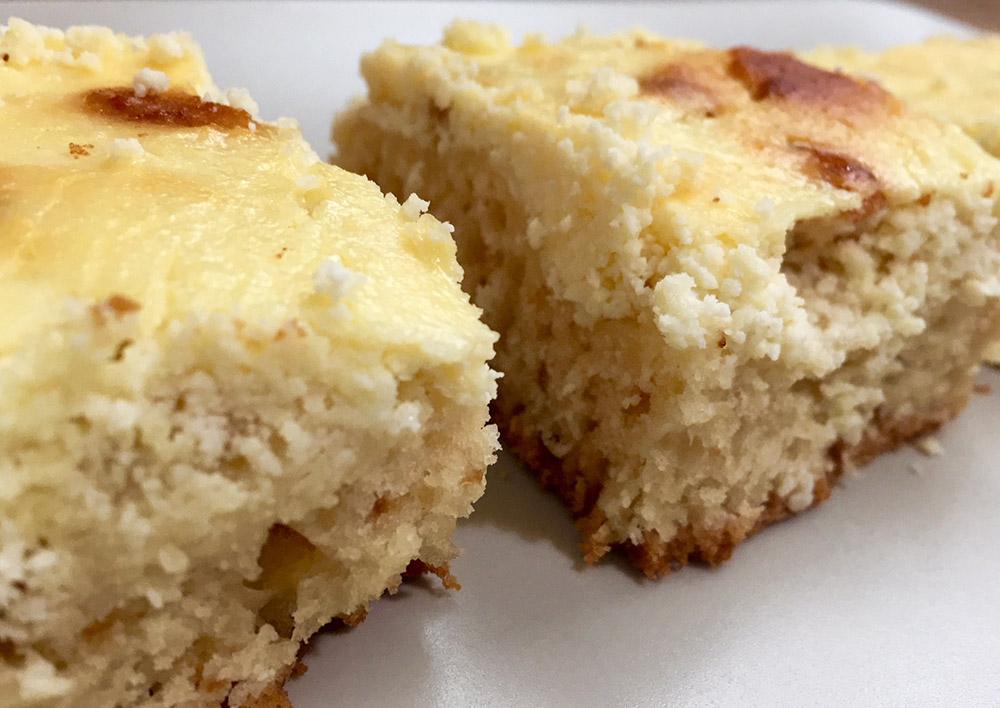 Prăjitură cu brânză de vaci simplă și rapidă