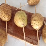 Cartofi cu bețe de frigăruie pentru cartofi acordeon pe băț de frigăruie