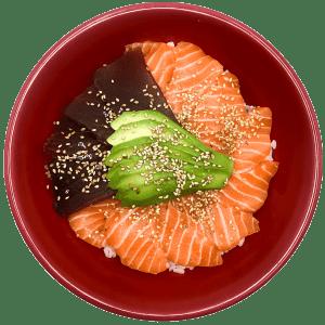 CHIRASHI SAUMON, THON & AVOCAT