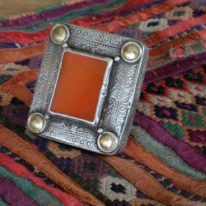 Alter afghanischer Silberring mit Karneol