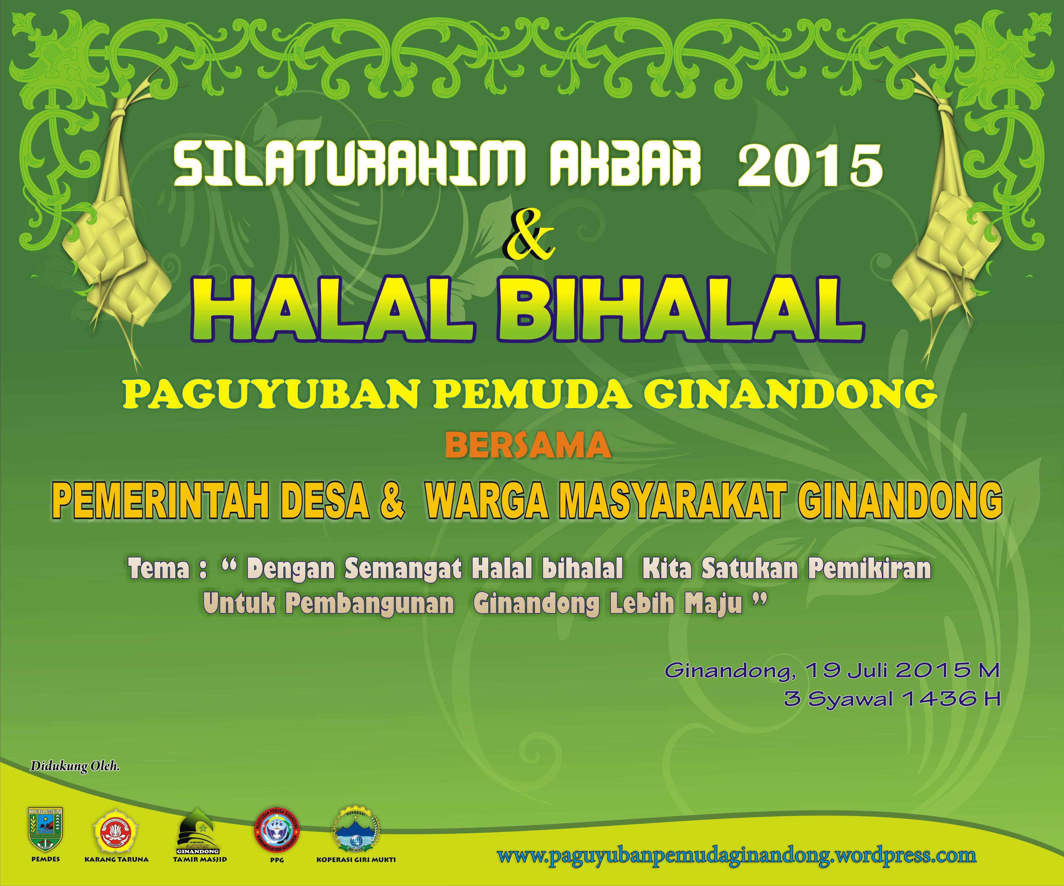 Silaturahim Akbar Halal Bihalal 2015 Paguyuban Pemuda Ginandong
