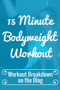 BODYWEIGHT CARDIO + CORE 15 Minute Quick and Sweaty New Year's Workout Workout Breakdown - Pahla B Fitness