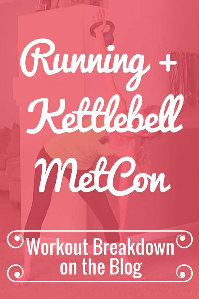 Running and Kettlebell MetCon Cardio and Strength Home Workout from Pahla B Fitness