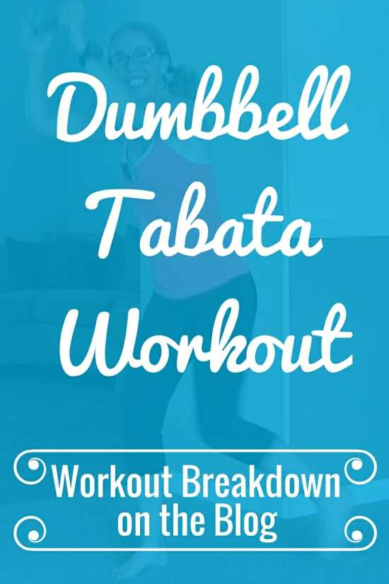 Dumbbell Tabata #4 Low Impact Cardio with Weights Workout Breakdown from Pahla B Fitness