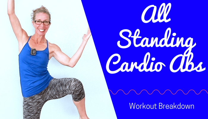 All STANDING No Jumping Cardio ABS HIIT - 15 Minute Flat Belly Home Workout without Equipment Full Length Home Workout from Pahla B Fitness Blog Featured Image