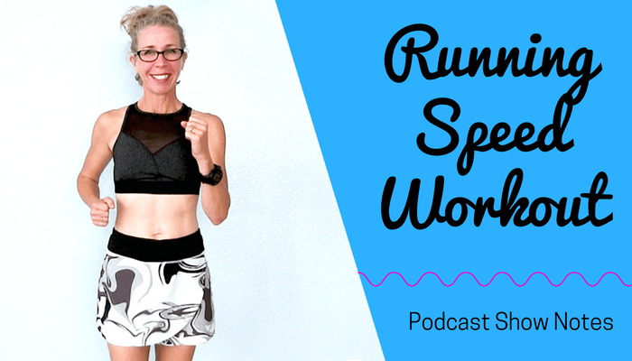 RUN FASTER - 40 Minute Indoor RUNNING SPEED Interval Workout - Let's RUN Podcast Full Length Home Workout from Pahla B Fitness Blog Featured Image