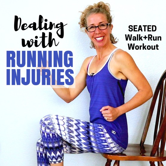 SEATED WALK 25 Minute Walking + Running Workout How to Deal with Running INJURIES Let's RUN Podcast Cover