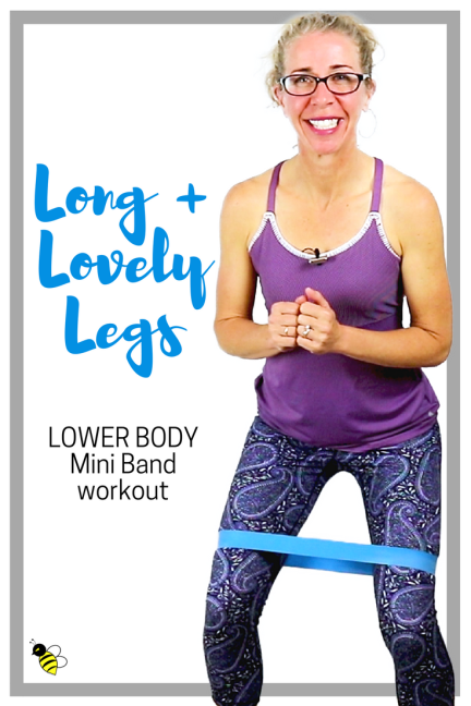 Long, Lovely LEGS 10 Minute TONING Workout for Lower Body, Butt + Thighs with a Mini Band FREE Home Workout on YouTube from Pahla B Fitness