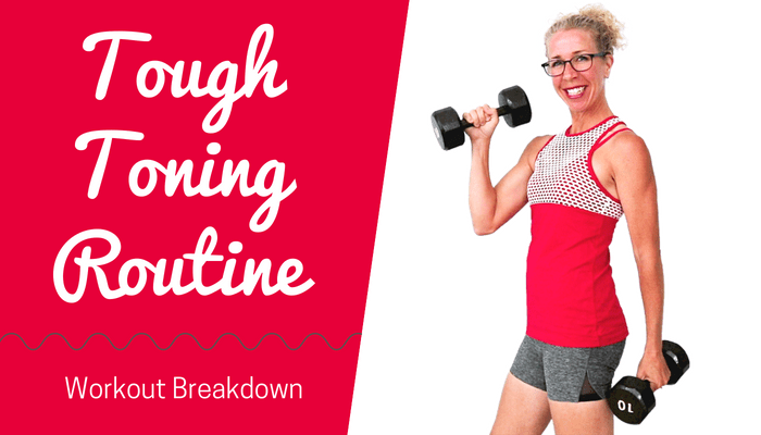 TOUGH TONING _ Full Body STRENGTH with Dumbbells _ STACKABLE 10 Minute Workout - BLOG Featured Photo