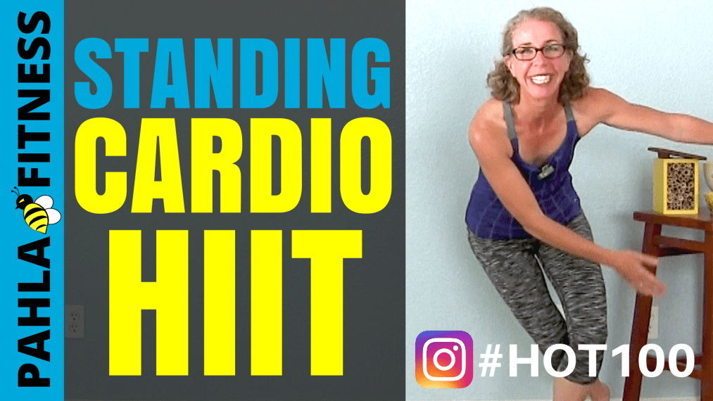 All Standing CARDIO HIIT Workout, HOT100 Challenge Day 1