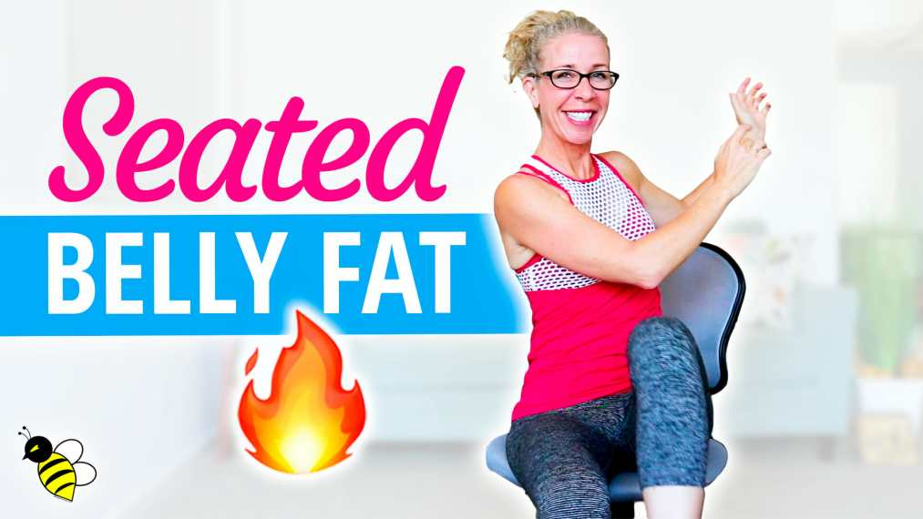 SEATED belly fat burn, cardio strength + abs workout