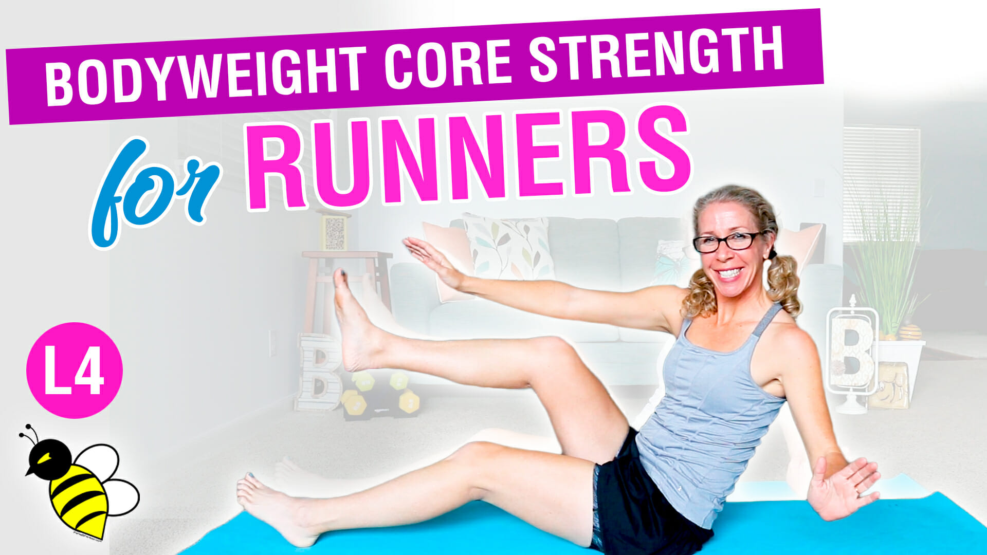 PR STRONG Bodyweight ABS + GLUTES for RUNNERS