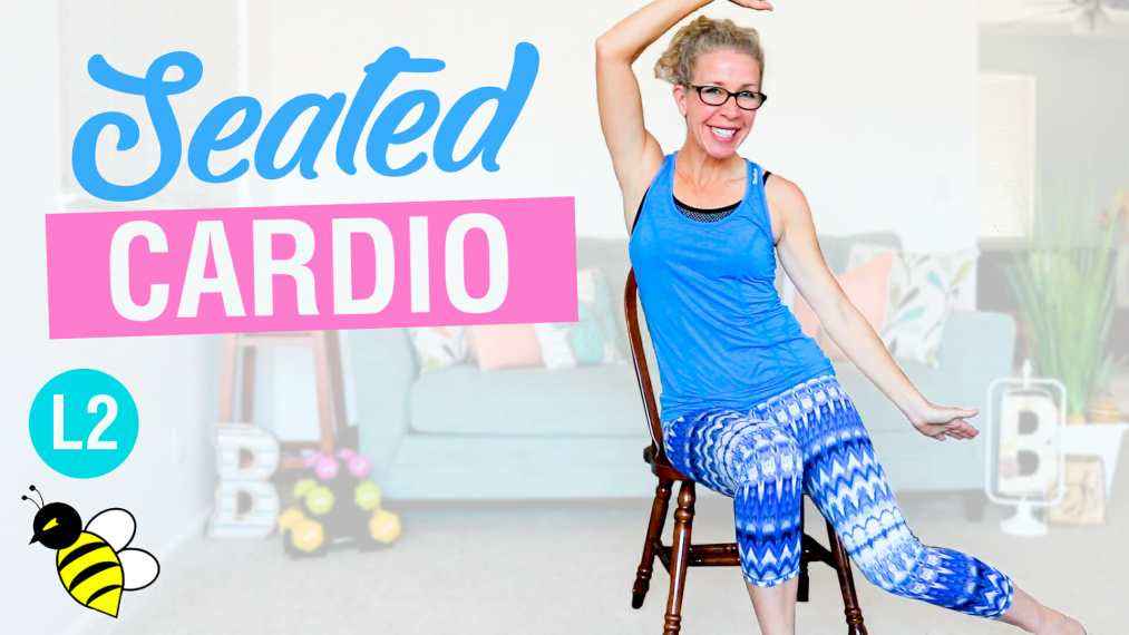 SEATED cardio Tabata stackable 10-minute workout