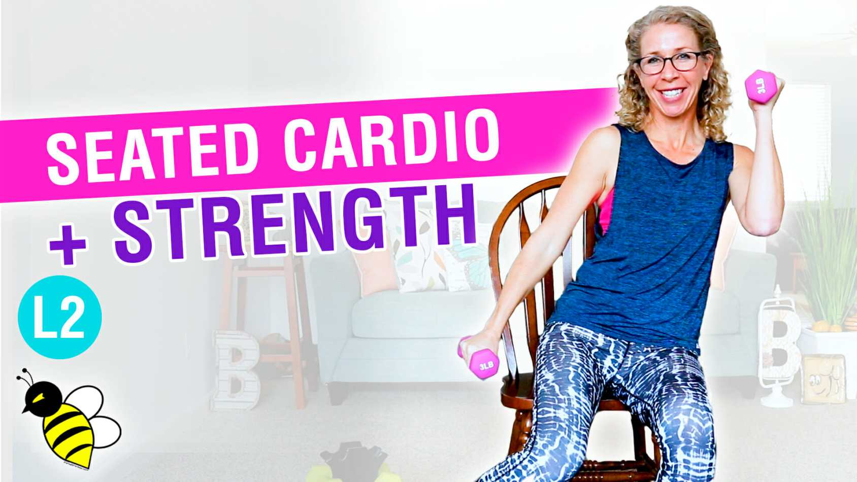 25 minute SEATED cardio + strength workout for TOTAL BODY fitness