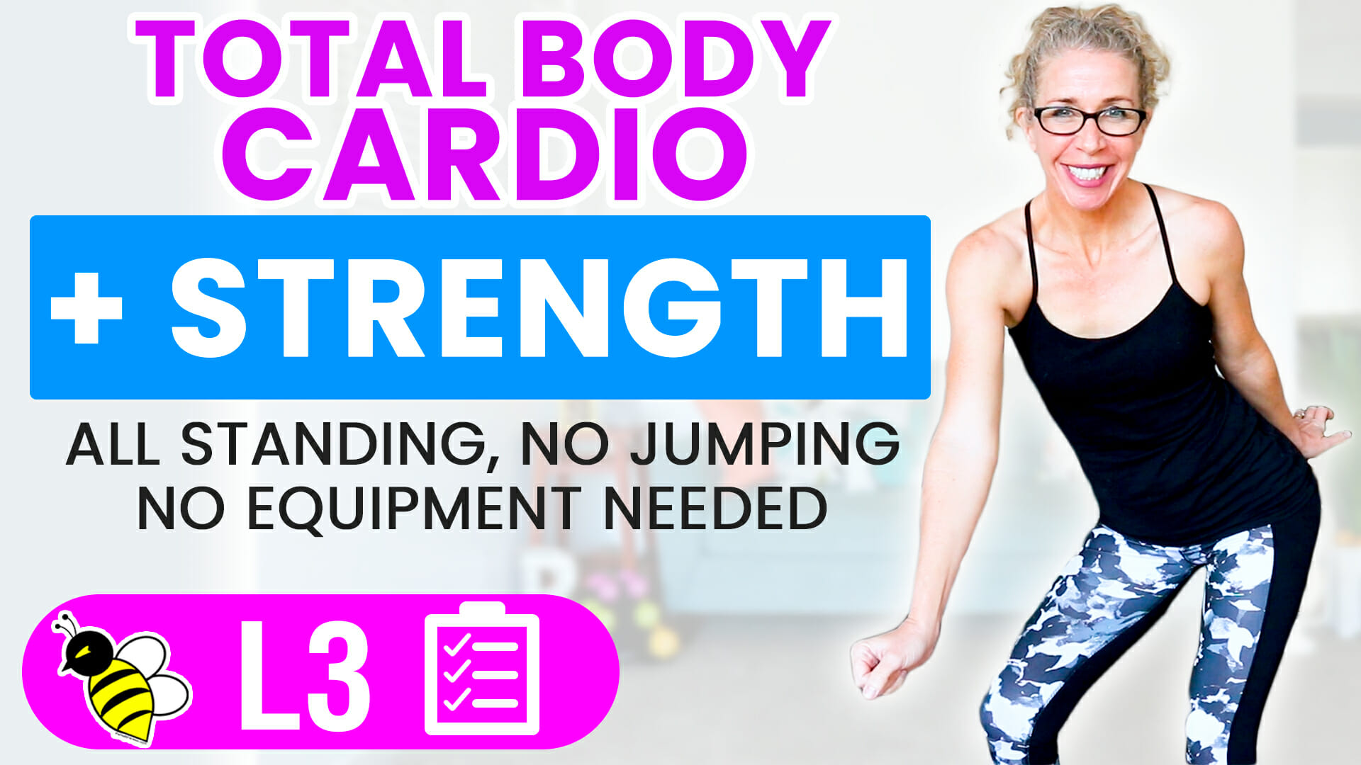 FUN 30 minute CARDIO + STRENGTH workout without equipment
