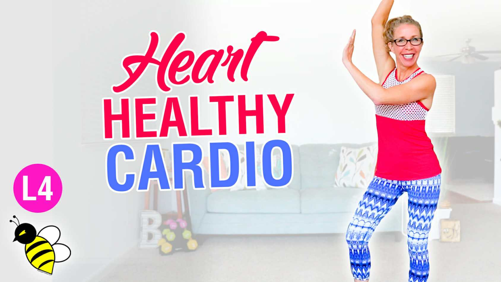 Heart Healthy CARDIO, 50 minute low impact home workout