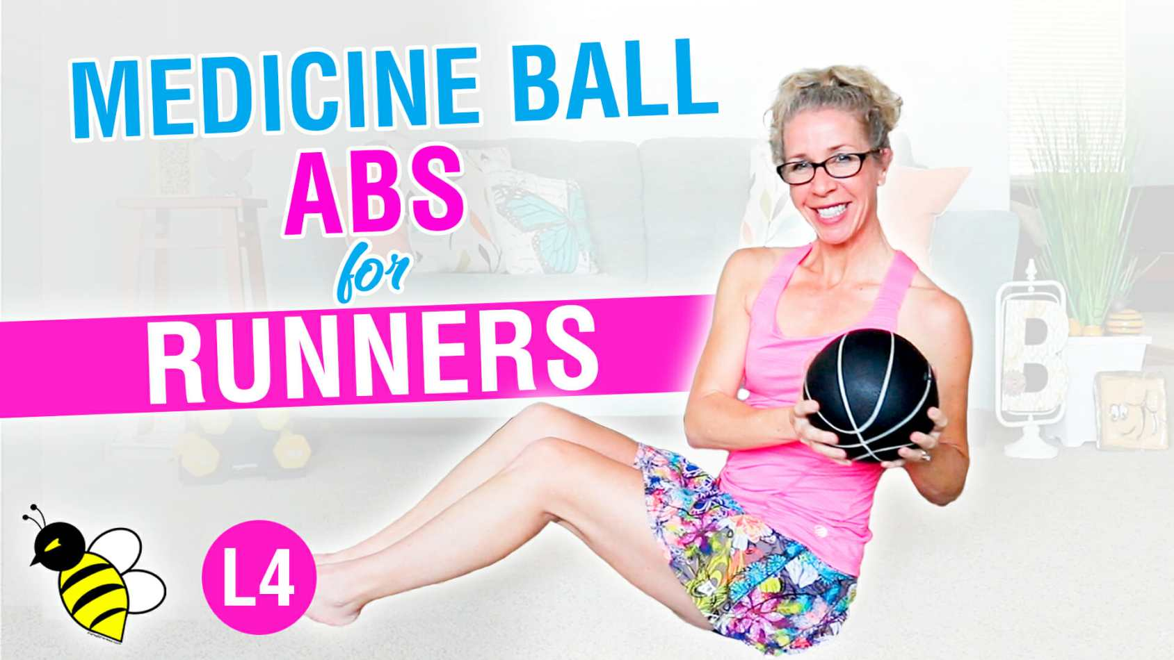 PR STRONG 5 minute medicine ball ABS workout for RUNNERS