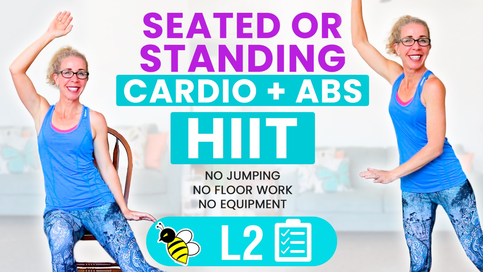 CARDIO + ABS 30 minute SEATED or STANDING workout