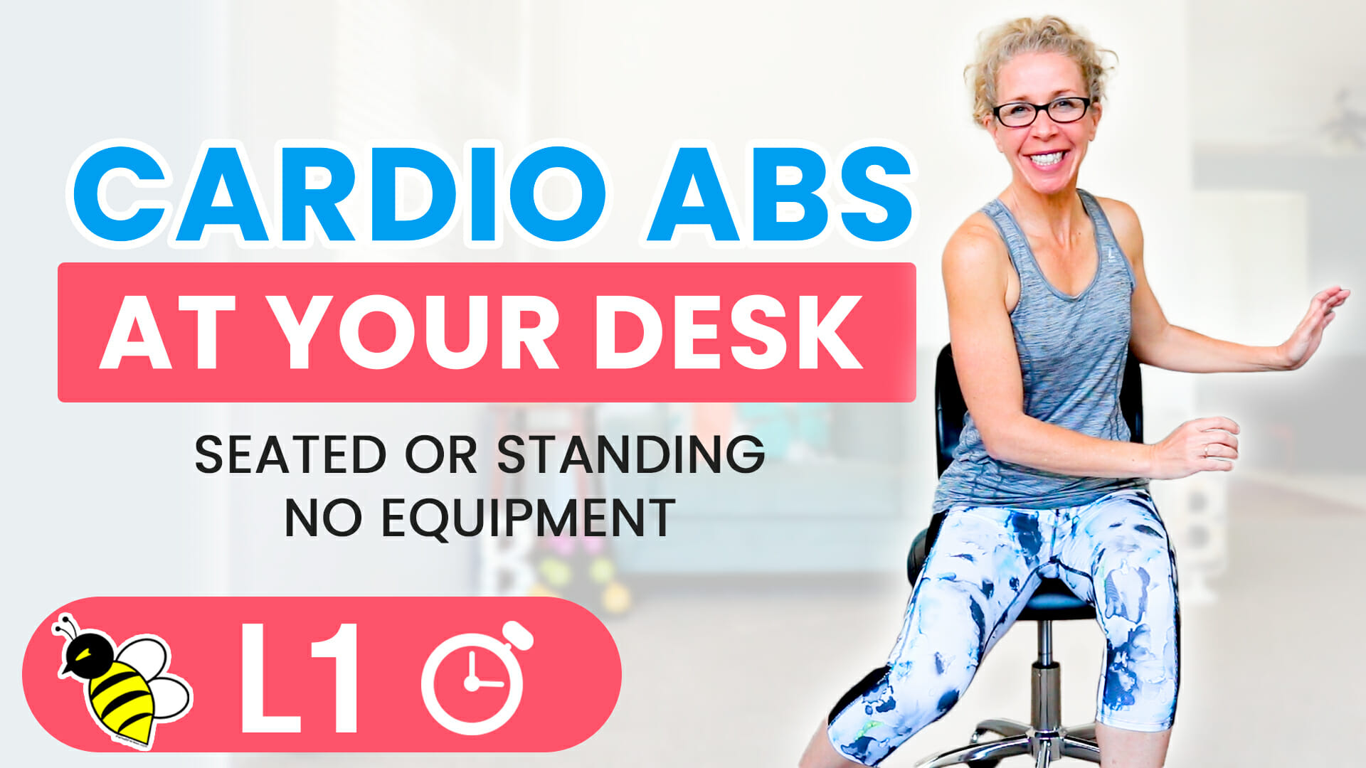 CARDIO ABS at your DESK 5-Minute Friday FIX workout