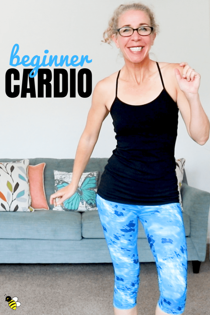 "Tired of CARDIO workouts that say they're good for a ""BEGINNER"" but really aren't?  My friend, you've come to the right place!  This super sweaty, calorie burning, low impact workout has no squats, no jumping, no equipment and no getting down on the ground."