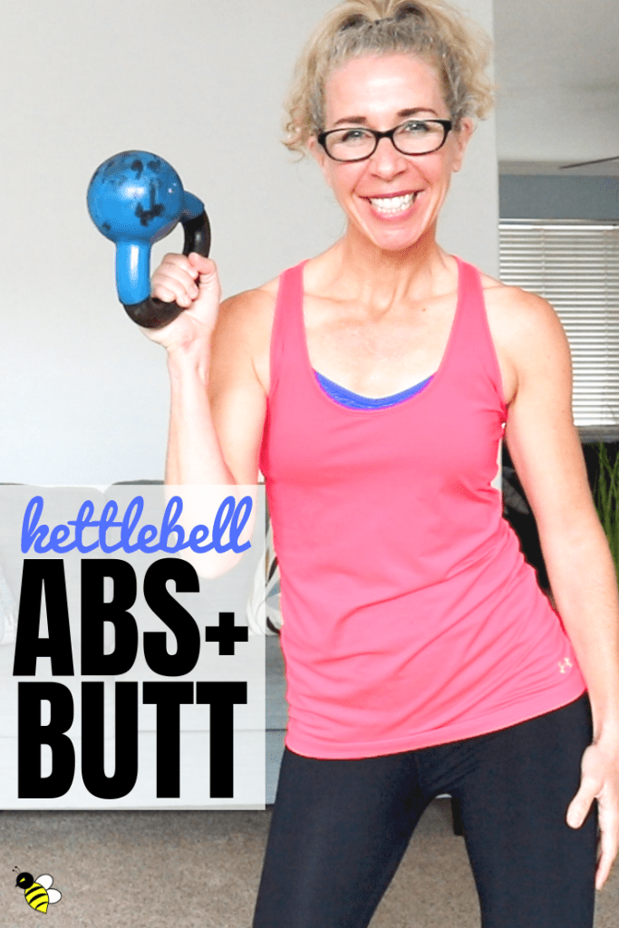 Tone your ABS, boost your BUTT and get that sweaty CARDIO all in one li'l 10 minute workout!  Grab a kettlebell (or a dumbbell - either one will do) and let's GO.