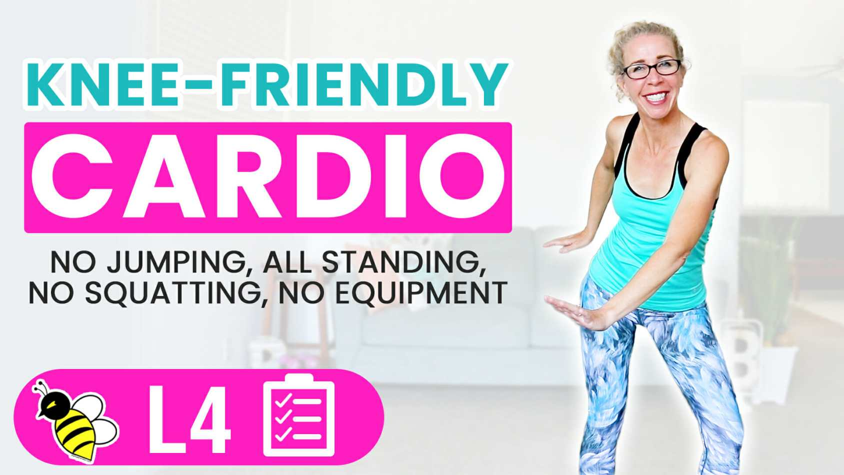 Knee-Friendly Cardio 40 Minute LOW IMPACT Workout Burn 400 Calories