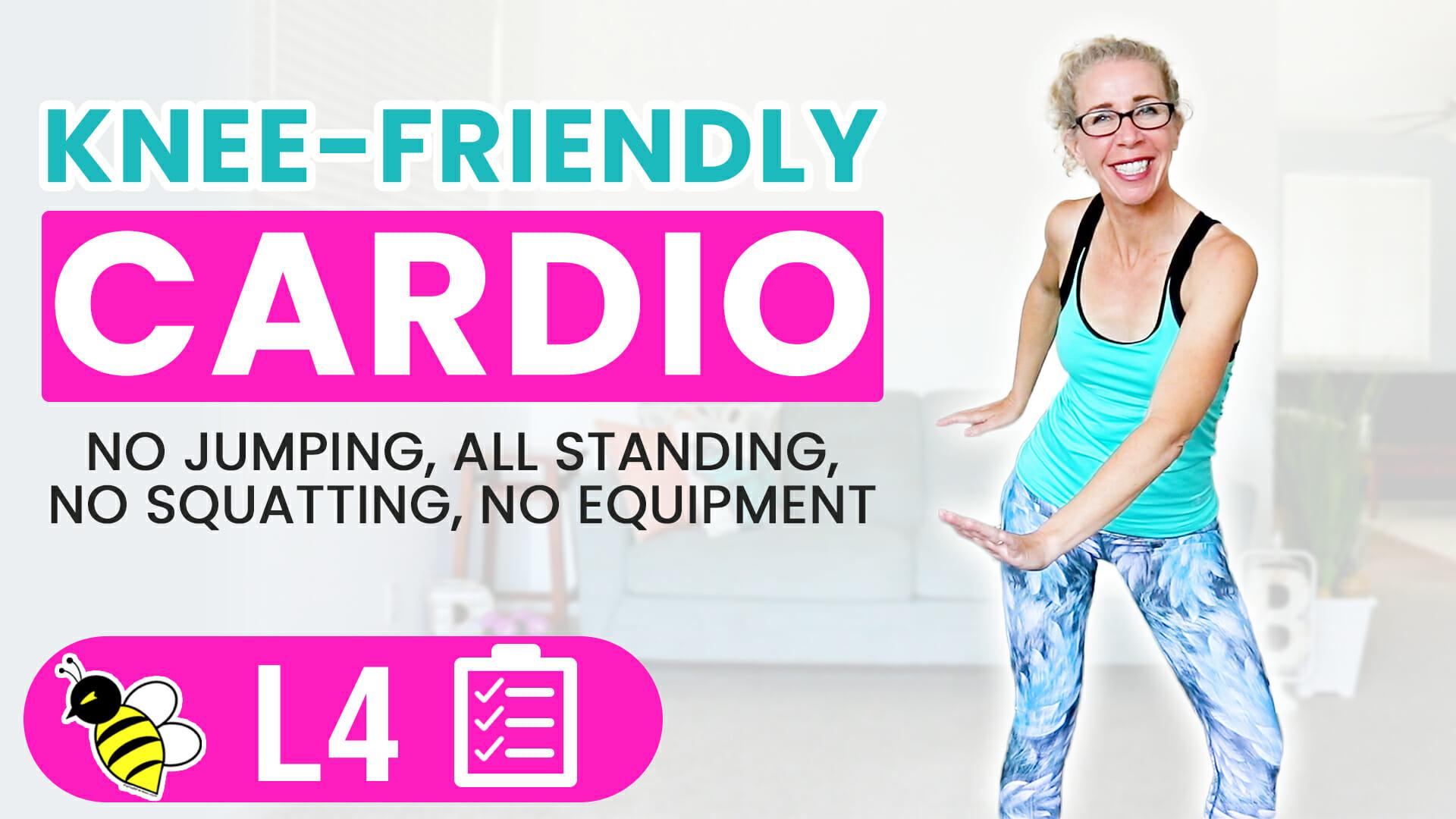 Knee-Friendly Cardio 40 Minute LOW IMPACT Workout Burn 400 Calories