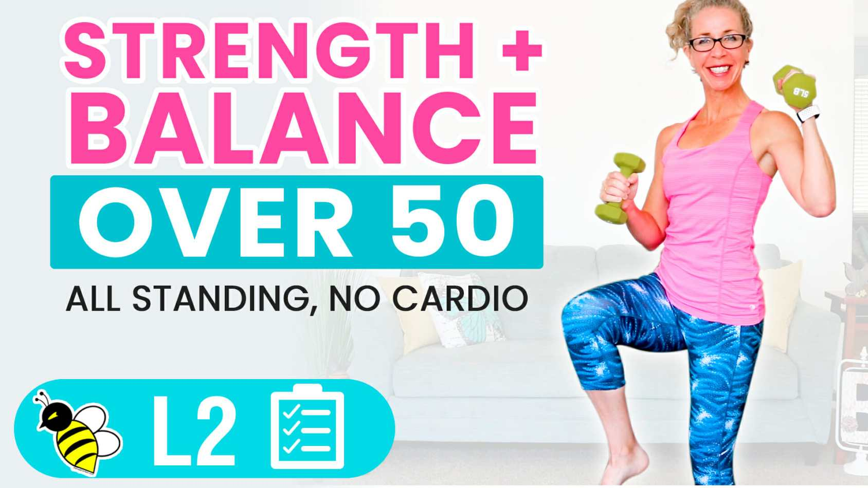 25 Minute Barefoot BALANCE + STRENGTH Functional Fitness for Women Over 50