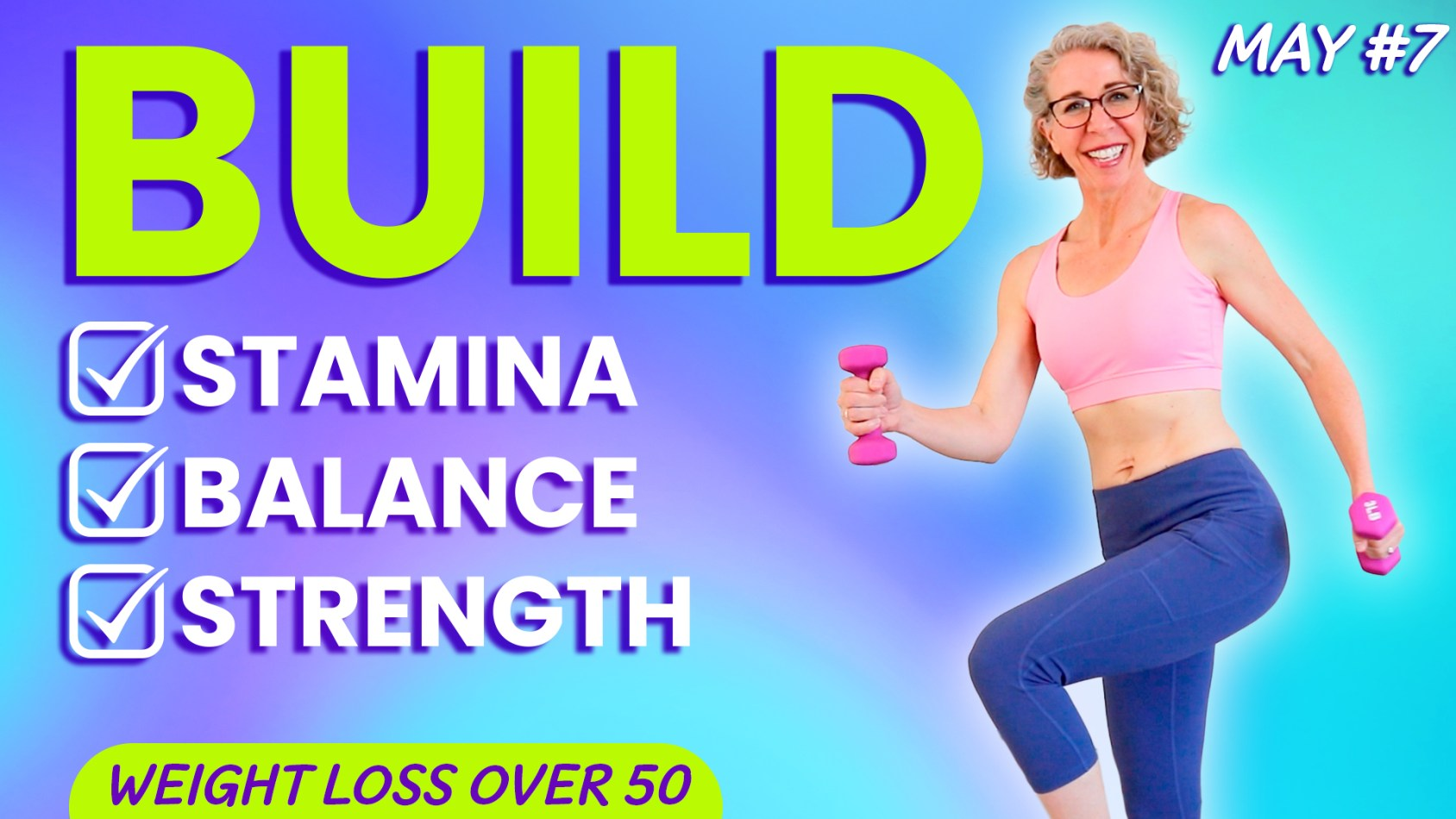 WALK with WEIGHTS, Fun TONING Workout for Women over 50 ???? MAY 7