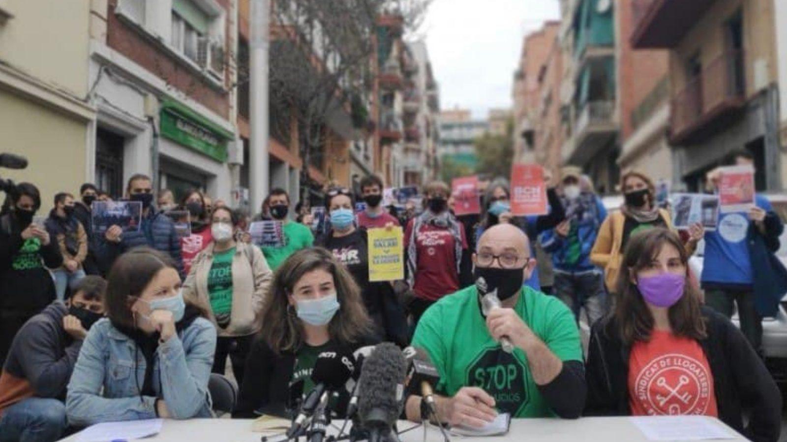 Crit contra els desnonaments a Catalunya i a l'Estat