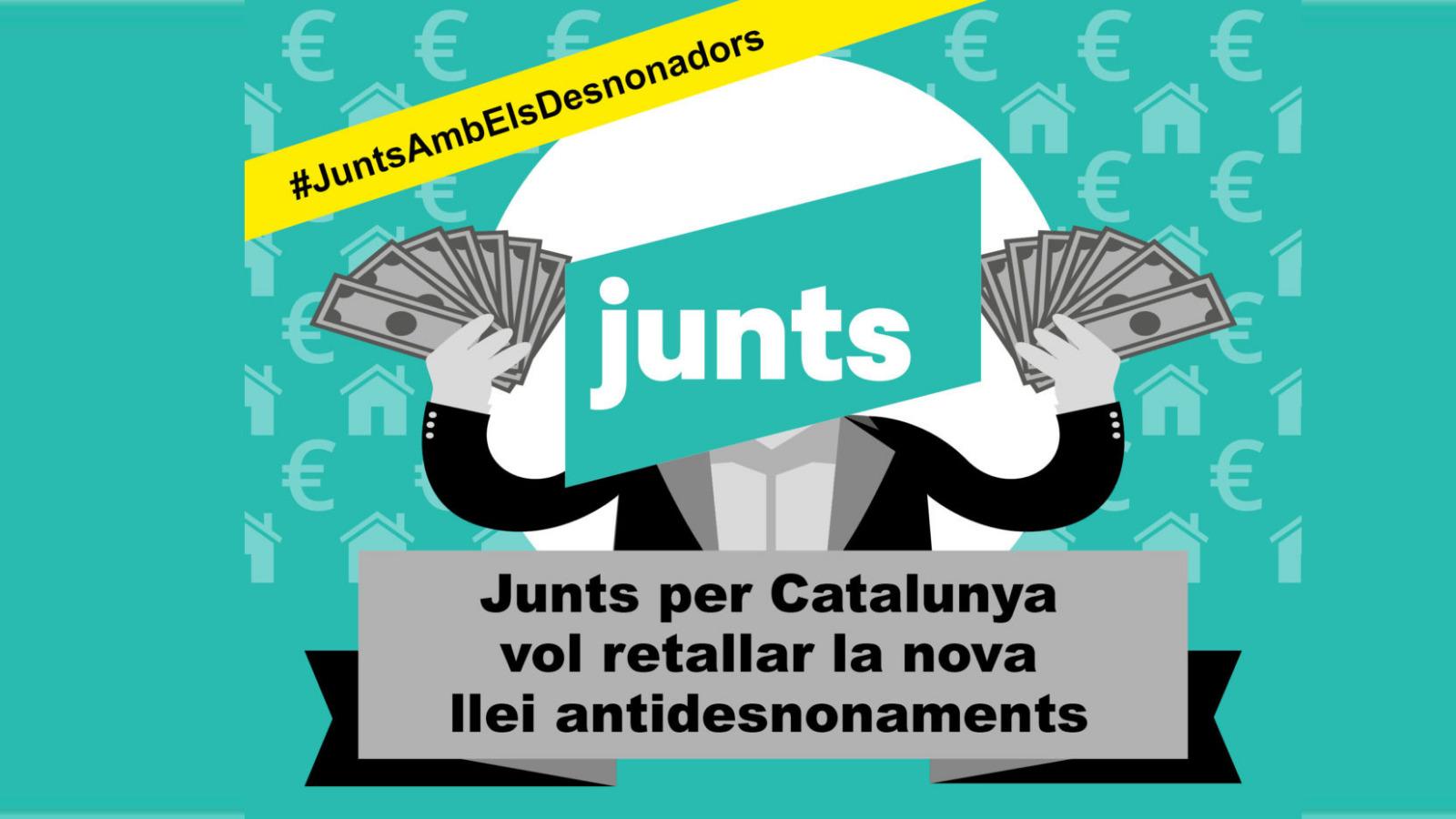 Lee más sobre el artículo [CONVOCATORIA] Junts per Catalunya vol retallar la nova llei antidesnonaments