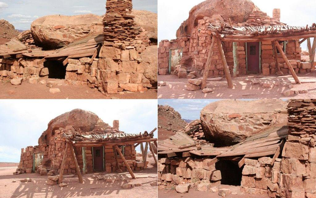 Photo Collage Downloads- Ruins of early American houses